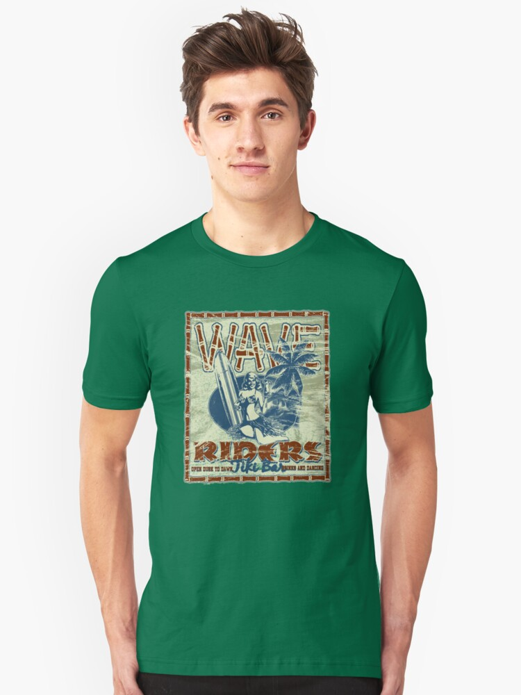 wave riders Unisex T-Shirt Front