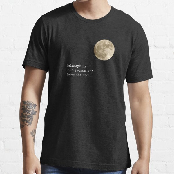Full Moon Phase Selenophile Definition Essential T-Shirt