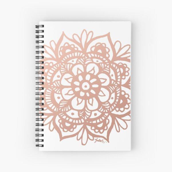 Flor de Mandala de oro rosa Cuaderno de espiral