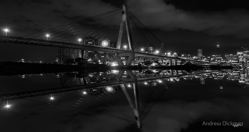 Reflecting on Anzac Bridge by Andrew Dickman