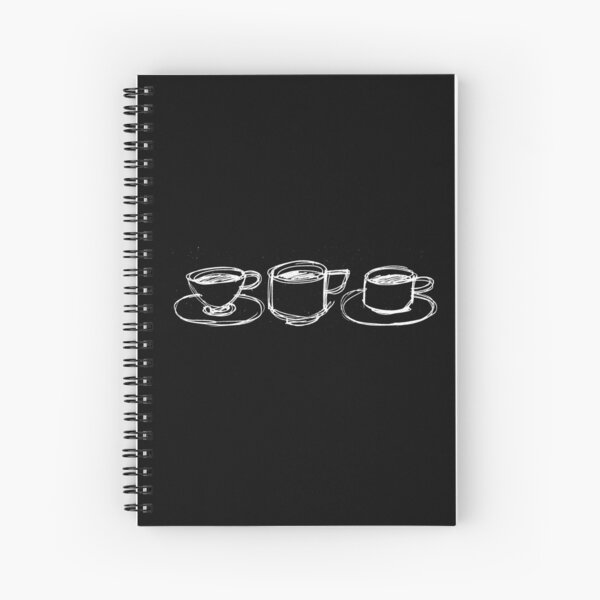 """3 cups, from my book """"12 good reasons to drink coffee"""" Spiral Notebook"""