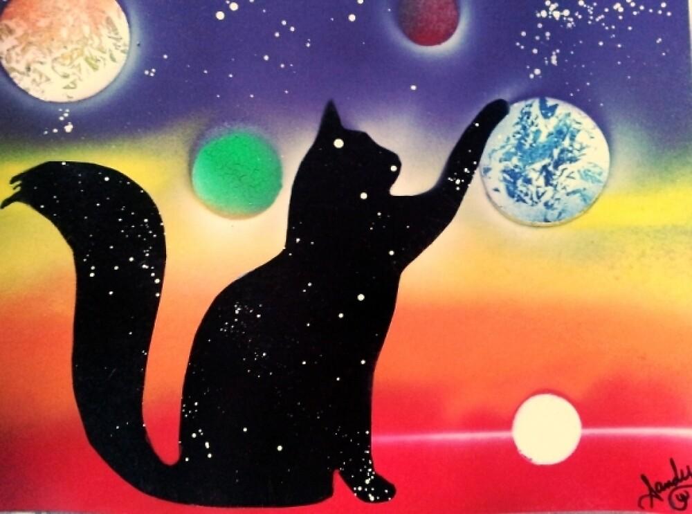 Nightfall Kitty by Sandy Williamson