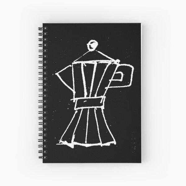 Italian espresso coffee machine in white Spiral Notebook