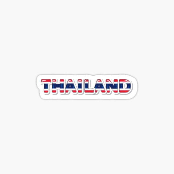 Thailand national colors Sticker