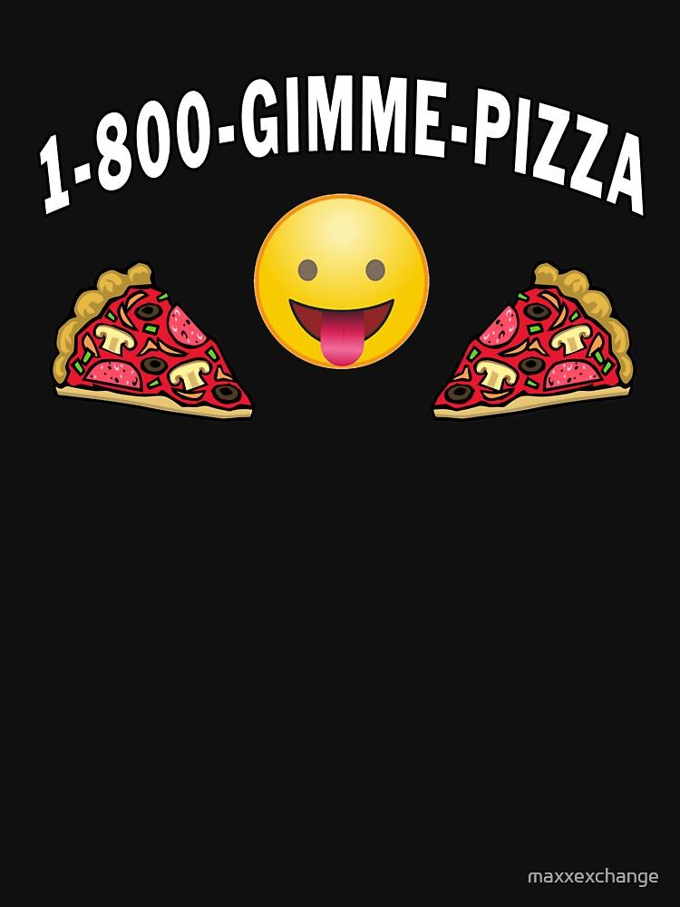 1 800 Gimme Pizza, Mozzarella Pepperoni Pizzeria. by maxxexchange