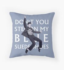 Blue Suede Shoes Throw Pillow
