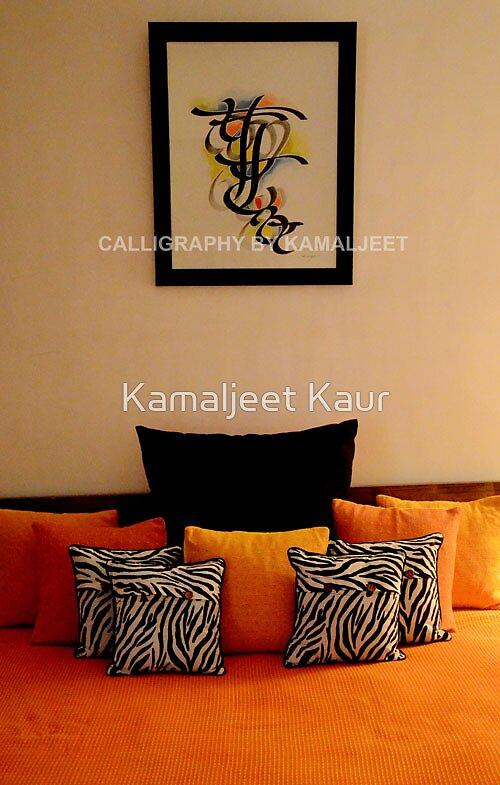 FONTS IN FRAME! by Kamaljeet Kaur