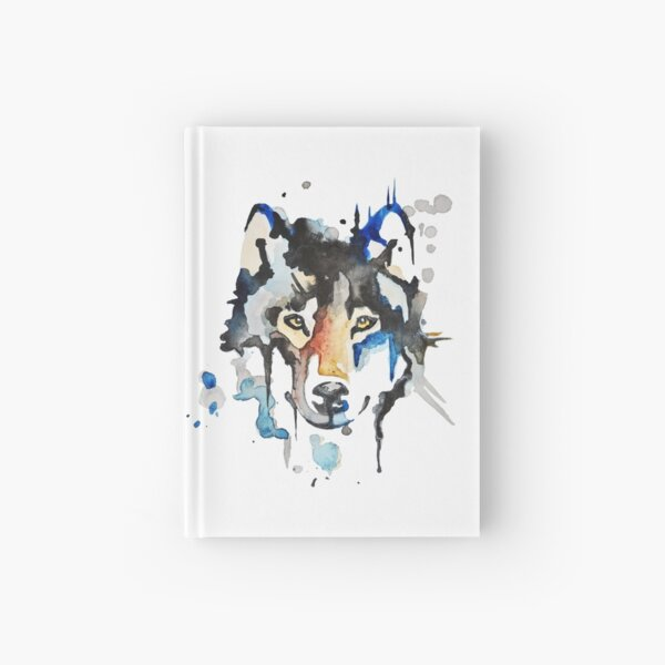 Watercolour Wolf Hardcover Journal