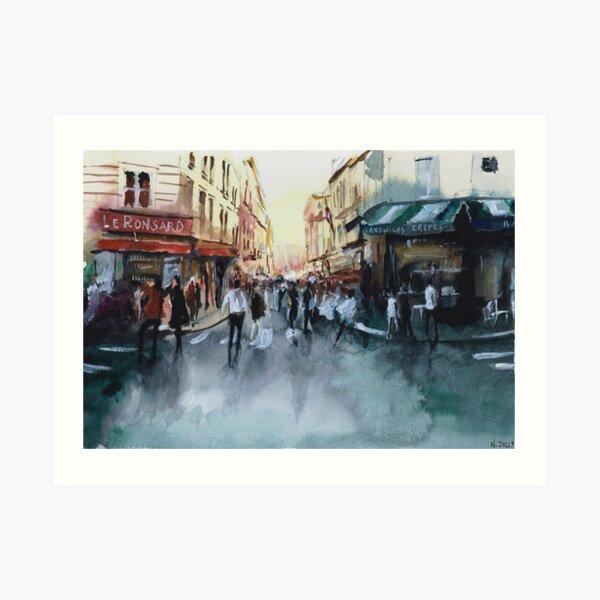 The crowd - Watercolor Art Print