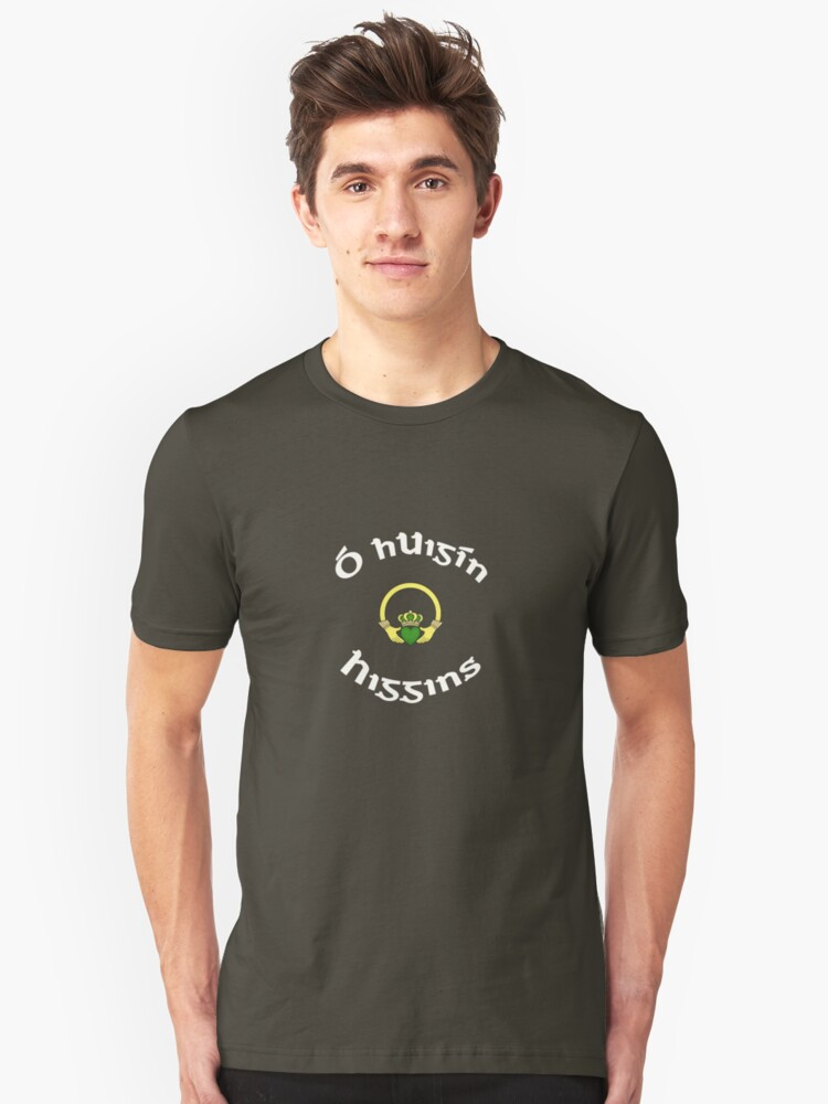 Higgins Surname - Dark Shirts with Claddagh Unisex T-Shirt Front