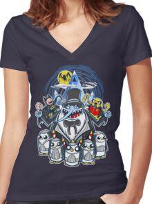 Penguin Time Women's Fitted V-Neck T-Shirt