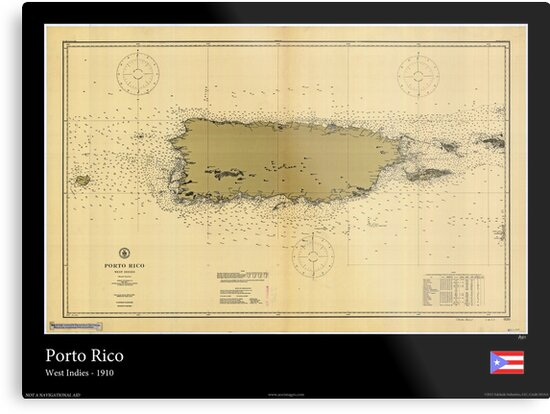 Vintage Print of Porto Rico - 1910 by aocimages