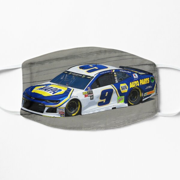 Chase Elliott racing in his Chevy Flat Mask