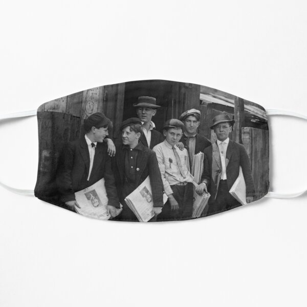 Newsies Around Murphy's Branch - Lewis Hine - 1910 Mask