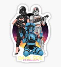Dark Side Girls Just Wanna Have Fun - Black Sticker
