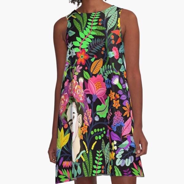 Frida in Bloom A-Line Dress