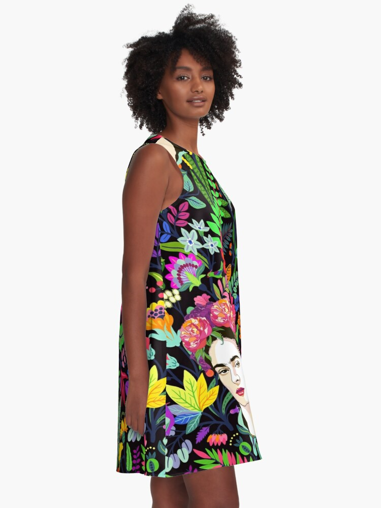 Alternate view of Frida in Bloom A-Line Dress