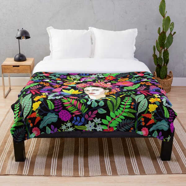 Frida in Bloom Throw Blanket