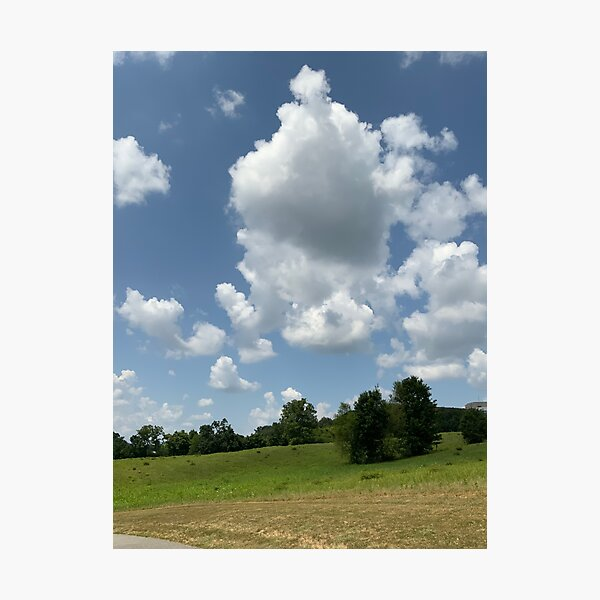 Clouds - Image to complete the floor plan and widen narrow spaces Photographic Print