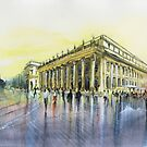 Le Grand Théâtre - Bordeaux - Watercolor by nicolasjolly