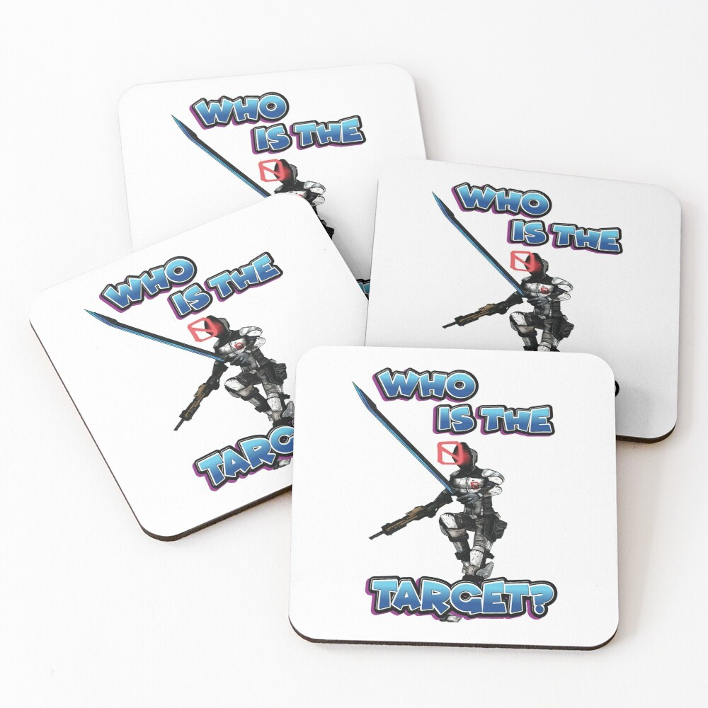 Zer0 The Assassin Who Is The Target? Borderlands Coasters (Set of 4)