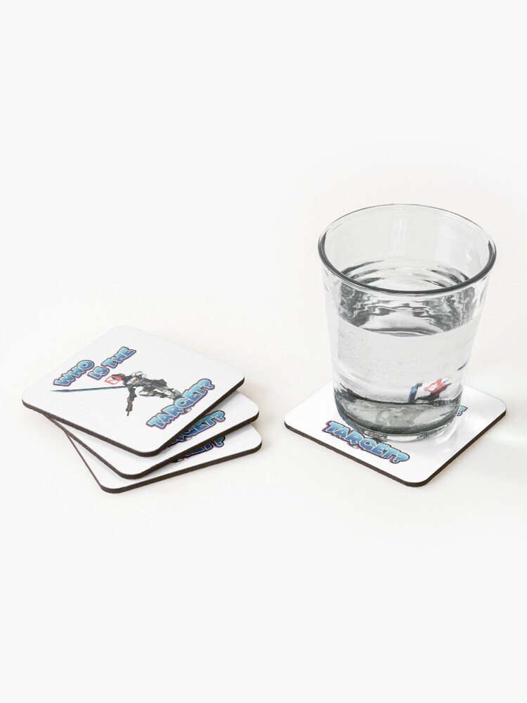 Alternate view of Zer0 The Assassin Who Is The Target? Borderlands Coasters (Set of 4)