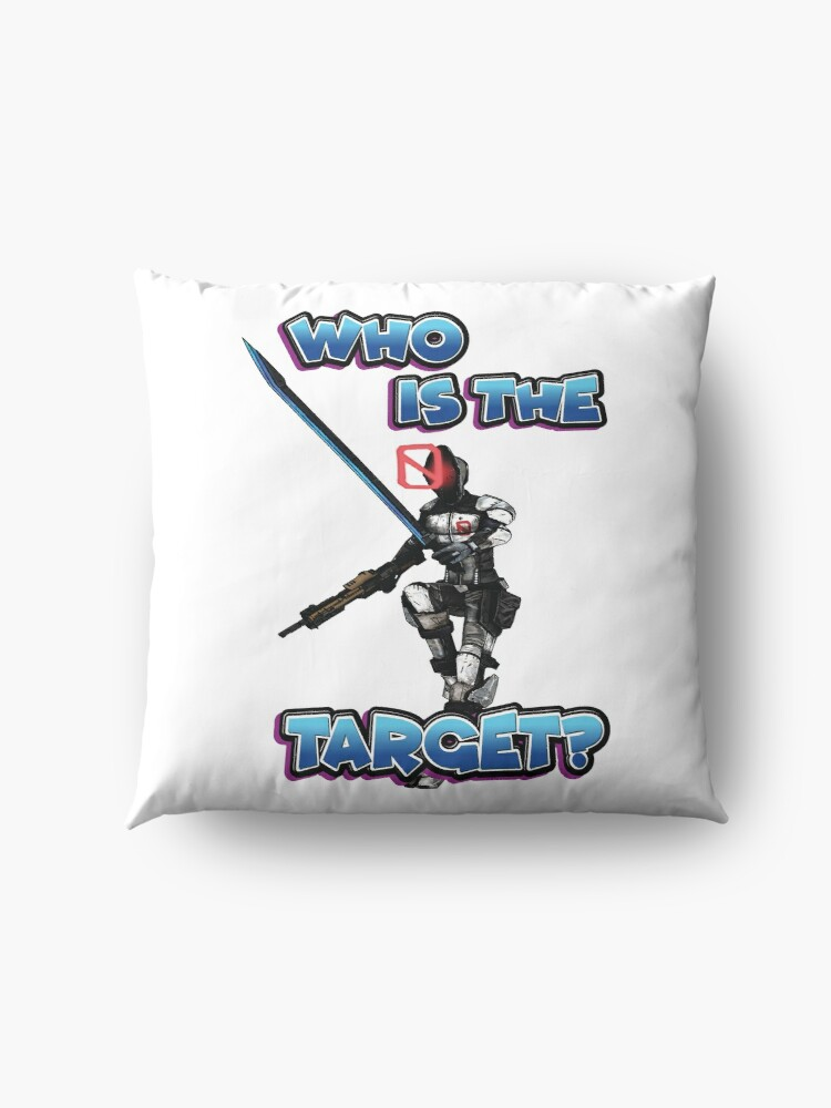 Alternate view of Zer0 The Assassin Who Is The Target? Borderlands Floor Pillow