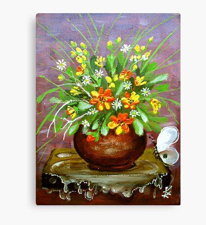 irrigate flowers  Canvas Print