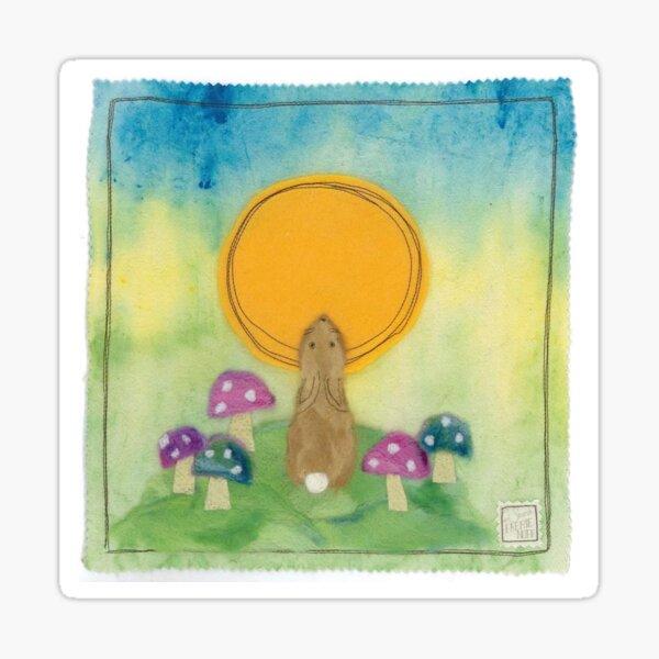 Solstice Hare Sticker