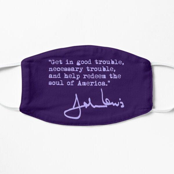 John Lewis - Good Trouble - Necessary Trouble - lavender Flat Mask