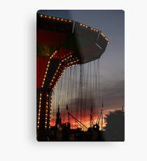 Carnival Ride at Sunset Vertical Metal Print