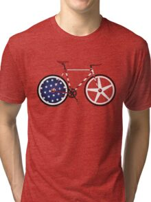 I Love My American  Bike Tri-blend T-Shirt