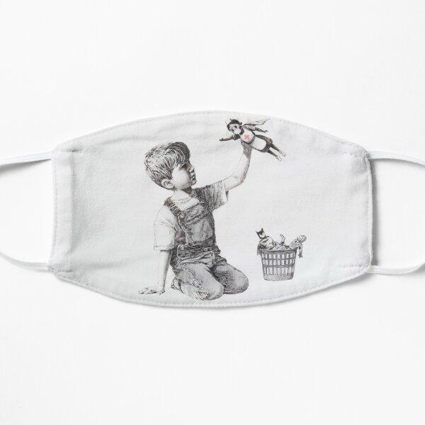 BANKSY NHS SUPERHERO NURSE MASK - Makes An Ideal Gift! Flat Mask
