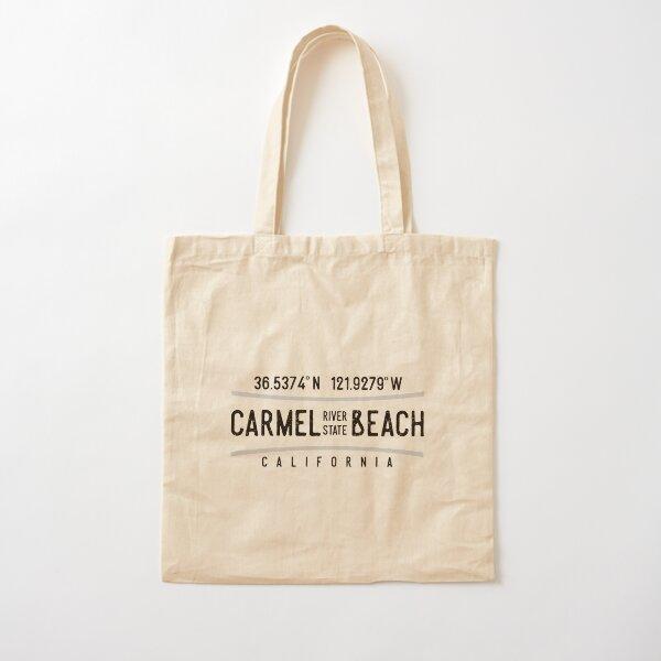 Carmel River State Beach Coordinates Cotton Tote Bag
