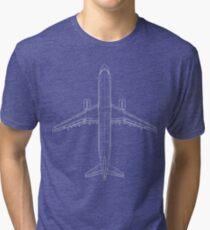 Airbus A320 Blueprint Tri-blend T-Shirt
