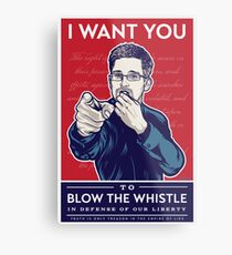 Edward Snowden I Want You Metal Print