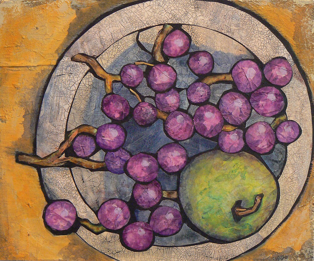 Apple with Grapes by Barbara Nye