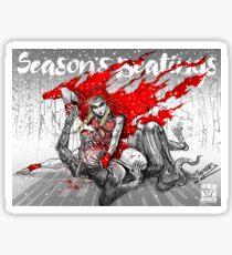 Red Knee Ride Hood - Xmas edition Sticker
