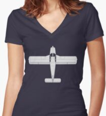Piper PA-28 Cherokee Women's Fitted V-Neck T-Shirt