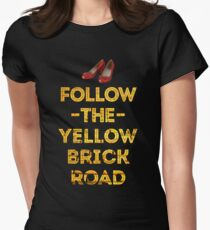 Follow The Yellow Brick Road Women's Fitted T-Shirt