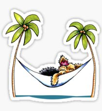 Yorkie Island Princess Sticker