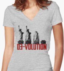 DE-VOLUTION  Women's Fitted V-Neck T-Shirt