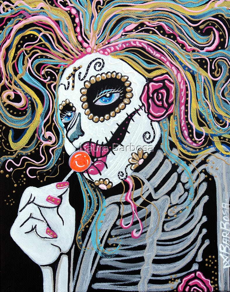 Sugar Skull Lollipop by Laura Barbosa