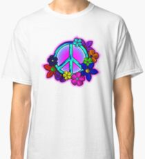 Peace Love and Flowers Tee Classic T-Shirt