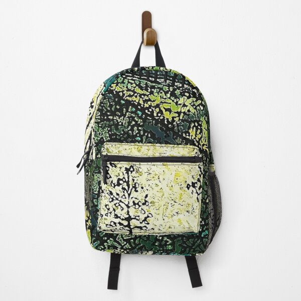 Chartreuse and Teal by Merideth Young Backpack