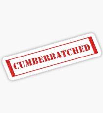 Cumberbatched tee Sticker