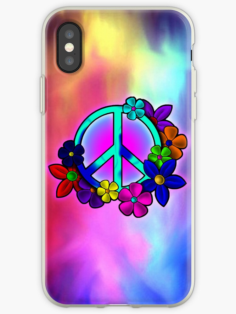 Peace Love and Flowers IPhone Case by GraphicLife
