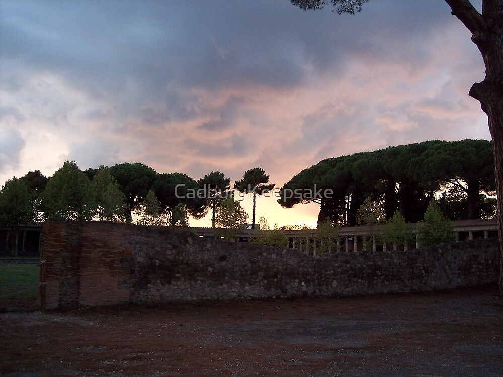 As the Sun Sets Over Pompeii by CadburyKeepsake
