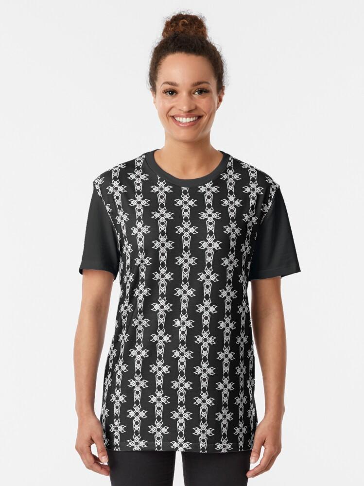 Alternate view of Celtic Christian Cross Graphic T-Shirt