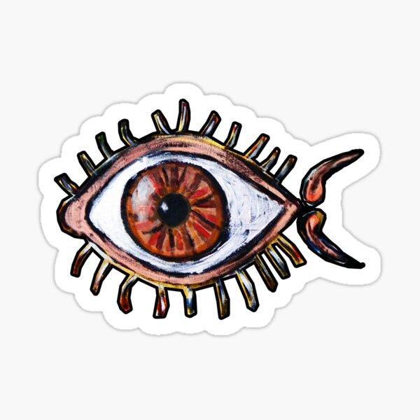 One Bug Fish Eye  Sticker